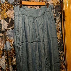 Armani exchange denim maxi skirt
